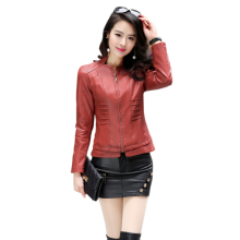 2017 New Women Faux Leather Biker Jackets Zipper Slim Short leather Jackets And Coats Big Size 5XL Female Outwear Women Clothing