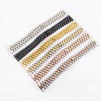 Rolamy 20 22mm 316L Steel Solid Straight End Screw Links Replacement Wrist Watch Band Bracelet For Rolex President Seiko
