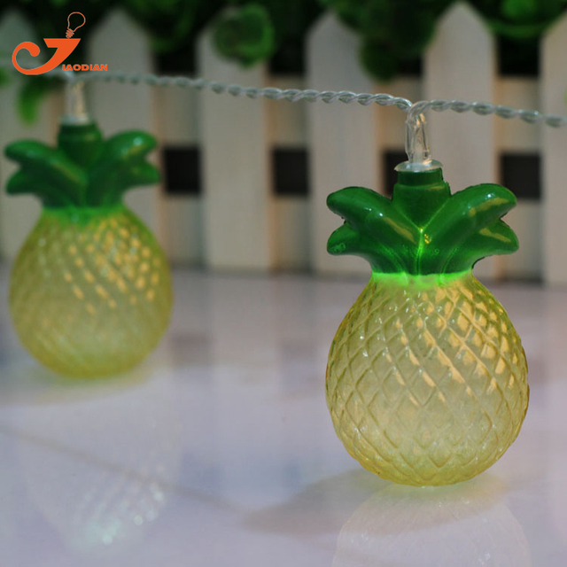 Pineapple String Lights Fairy Holiday Led Tropical Fruit Light Patio  Lanterns Garden Lights Battery Powered Party