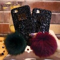 Luxury Coque For IPhone7 6 6s Plus Case Stylish Glitter Shiny Haiball Pendant Precious Stone PC