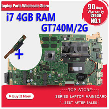 Send board+For ASUS K551L K551LB K551LD K551LN S551LB S551LN Motherboard i7 CPU S551lB REV2.2 Mainboard GT740 2G 100% Tested