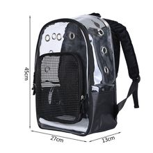 THINKTHENDO Pet Clear Carrier Backpack PVC Adjustable Transparent Cat Small Dog Outdoor Travel Bag