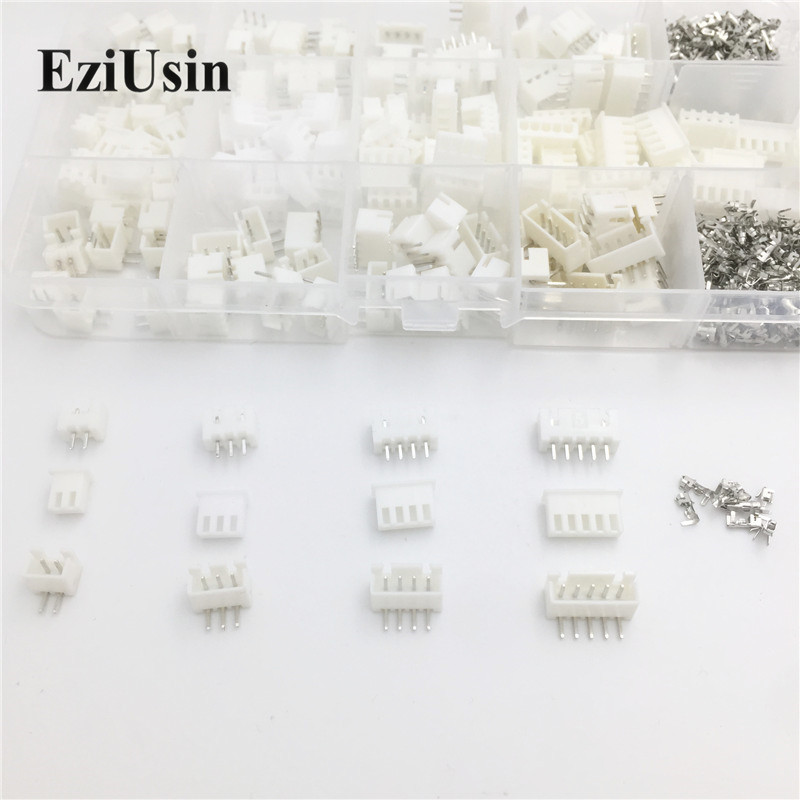 100Sets/Lot Mix Kit JST XH 2.54 2P 3P 4P 5P 6P Connector Leads Header Housing Pin header Terminal A AW Wire Connectors Adaptor