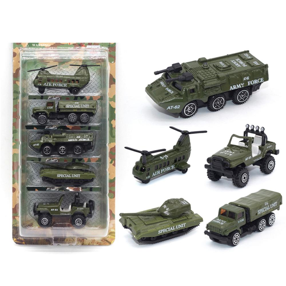 5Pcs Diecast Tactical Military Vehicle Car Model Kids Education Toy Home Decor