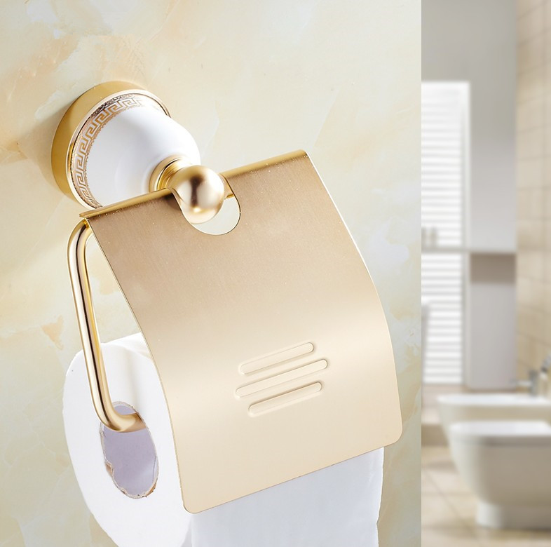 Europe Style Bathroom Gold Finish Creative Toilet Paper
