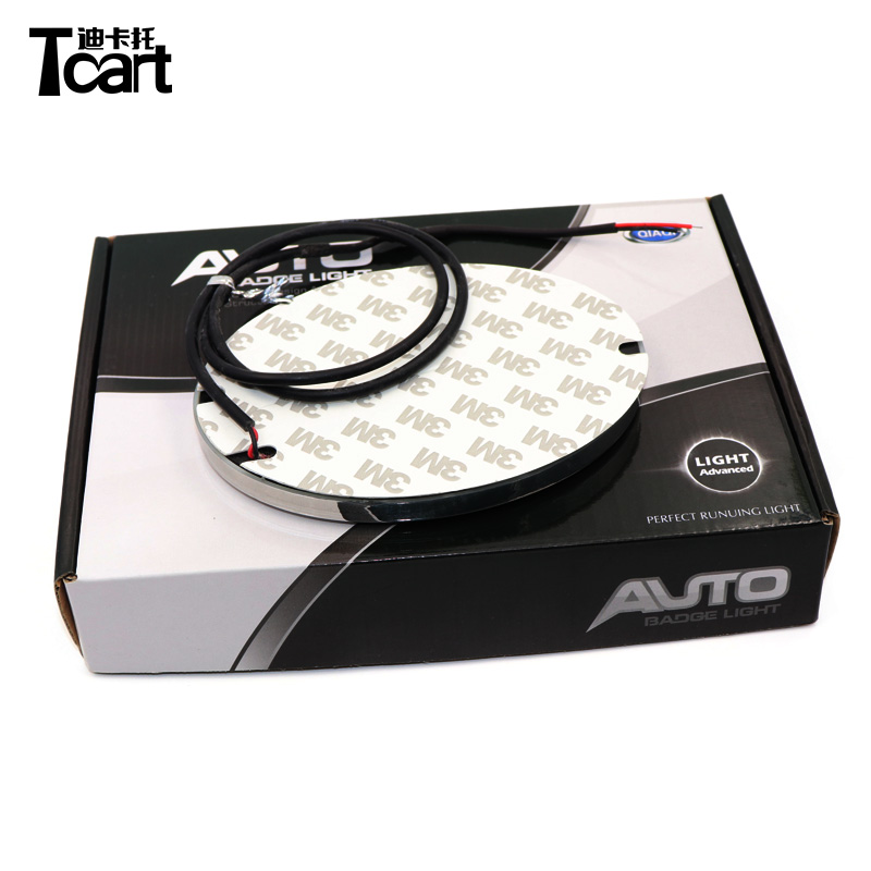 Tcart 10.5*6.85cm or 12*9.2cm 4D Cold Light LED Badge Emblem Logo Light for Lexus ES300 ES240 DS350 LS270 LED Emblem Light image