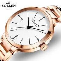 Nouvelle Marque De Luxe Or Rose Femmes Montres Horloge Casual Simple Automatique Montre mécanique Bracelet En Acier Fille Dames Montre-Bracelet