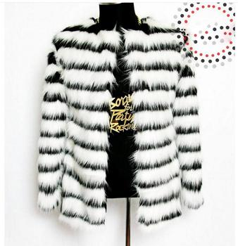 Autumn Winter Men'S Fur Jackets Striped Plus Size Man-Made Fur Overcoats Casual Nightclub Fur Overcoats Fake Fur Outwears K549