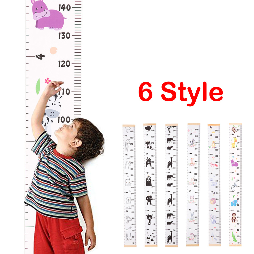Wooden Kids Growth Height Chart Ruler Children Room Decor Wall Hanging Measure Decorative Growth Charts