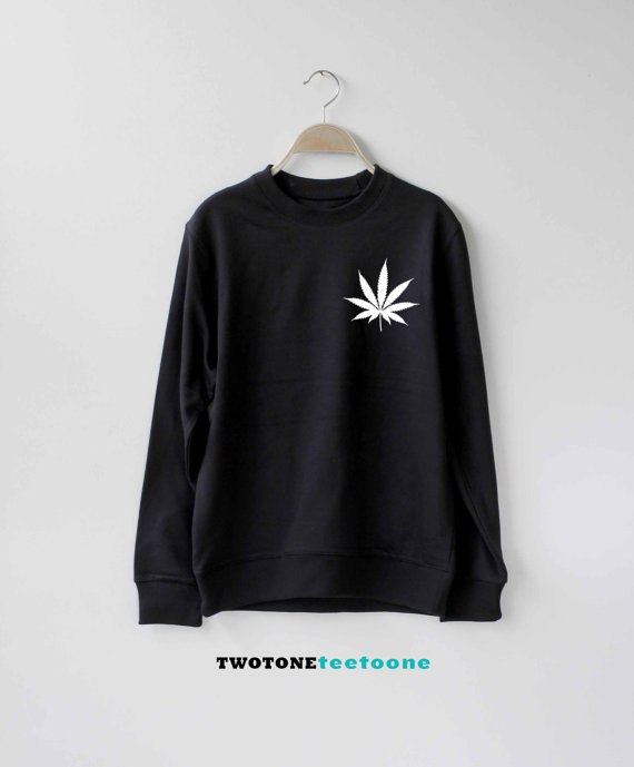 Cannabis Marijuanna wiet sweater Ugly Christmas Sweatshirts Unisex-E017