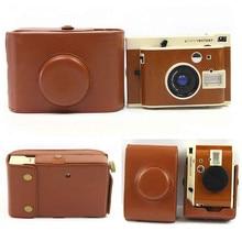 Ретро коричневый цвет из искусственной кожи чехол для камеры Lomo INSTANT Sanremo с плечевым ремнем защитный чехол для камеры