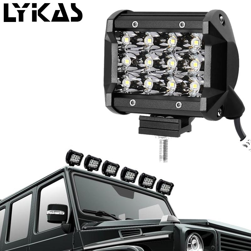 4inch 36W 4*4 LED Car Day Light Spot Lamp Bright Light bar/Work Assembly for Motorcycle Driving Offroad Boat Car Tractor Truck
