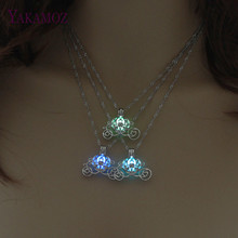 Fashion Choker Glowing Necklace 3 Colors Luminous Pendant Necklace For Women Best Gift Jewelry Silver Color Chain 45cm 2017