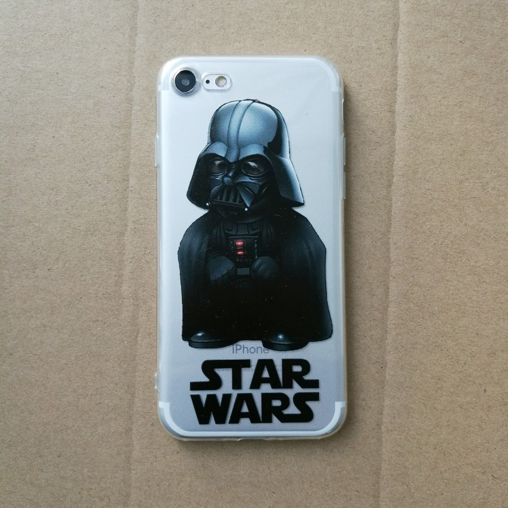 Star Wars Phone Cases Coffee Darth Vader R2D2 Coque for iphone 5 5s se 6 6s 6splus 7 7plus Silicon Transparent tpu Fundas Cover (4)