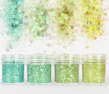 4 Pots 10ml light blue shiny glitter powder for jewelry Mold,Nail Glitter Powder Sequins For Nail art diy,fine