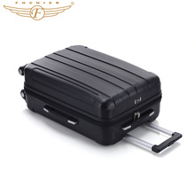 Universal 4 Wheels Lightweight Hardside Business Travel Rolling Case 1 Piece 20-Inch Waterproof Luggage Suitcase black Fochier