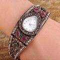 2016 Новое Прибытие Часы Браслет Для Женщин Партия Подарков Relojes Mujer Античное Золото Смолы Pulseira Женщины Старинные Браслеты Браслеты