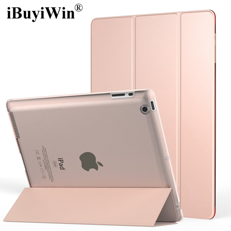 Ultra-thin Smart Case for iPad 2 3 4 Stand PU Leather Case Folding Flip Magnetic Cover With Auto Sleep/Wake Up+Screen Protector