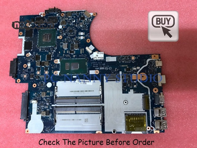 US $336 6 10% OFF|PCNANNY 01HW728 NM A831 For Lenovo ThinkPad E570 laptop  motherboard i7 7500U DDR4 tested-in Laptop Motherboard from Computer &