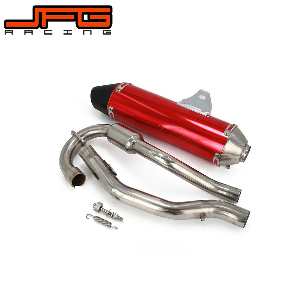 Motorcycle Exhaust Muffler Pipe For HONDA CRF230F CRF230 CRF150F CRF150 F 2003 2004 2005 2006 2007 2008 2009 2010 2011 2012 2013 38mm aluminum motorcycle exhaust muffler for crf150f crf230f 2003 2013 motocross dirt bike enduro supermoto free shipping