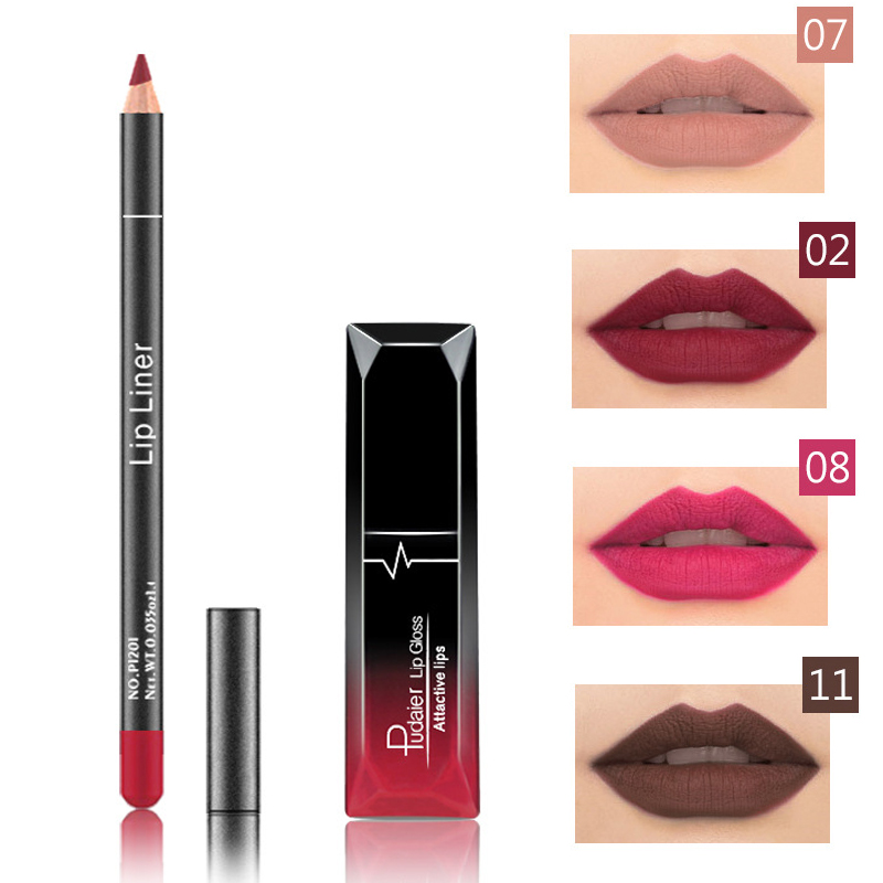 Pudaier Brand Lip Color Cosmetics 1PCS Waterproof Matte