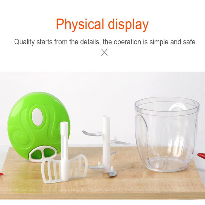 900ML Powerful Meat Grinder Hand power Food Chopper Mincer Mixer Blender to Chop Meat Fruit Vegetable 900ML Powerful Meat Grinder Hand-power Food Chopper Mincer Mixer Blender to Chop Meat Fruit Vegetable Nuts Herbs