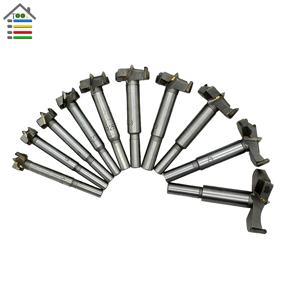 New 10pc Forstner Bit Set Wood Milling Cutter Window 14-50mm Woodworking Hinge Hole Saw Cutting Auger Core Drilling 38mm 100mm diameter hinge boring bit woodworking silver tone round shank wood drilling forstner carbide tip cutting wood tool