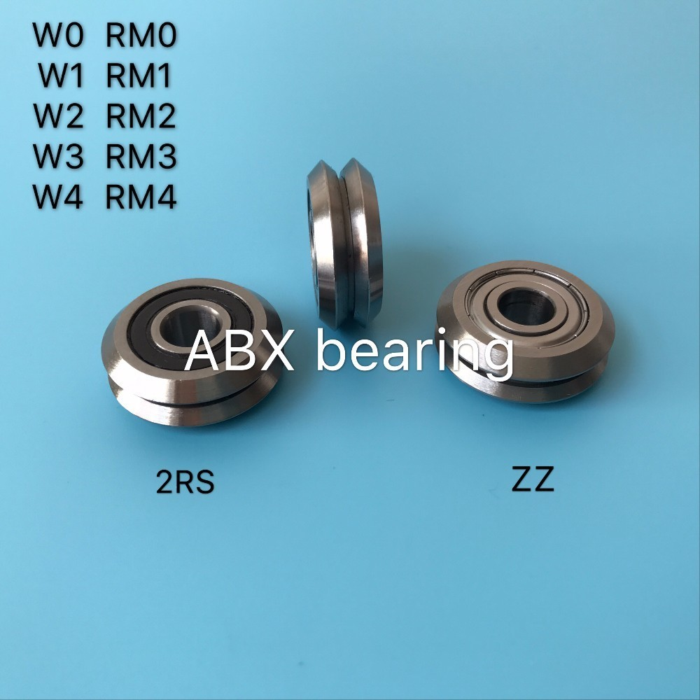 1pcs W3ZZ track roller bearing 12mm Bore RM3ZZ W3-2Z W3 RM3 2RS RM3-2RS V Groove Guide Bearings 12x45.72x15.88mm mochu 22213 22213ca 22213ca w33 65x120x31 53513 53513hk spherical roller bearings self aligning cylindrical bore