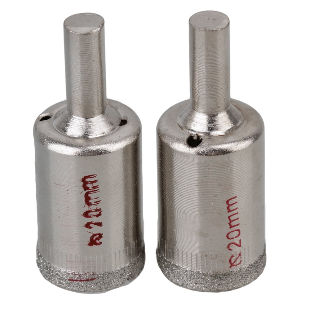 5PCS 20mm Diamond Coated Core Hole Saw Cutter Tile Ceramic Porcelain Glass Drills With Opening Grooved