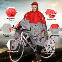 QIAN Impermeable mujeres/hombres al aire libre lluvia Poncho mochila diseño reflectante ciclismo escalada senderismo viaje lluvia cubierta