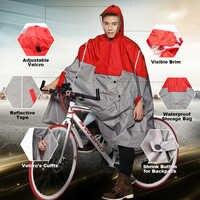 Qlan Impermeable mujer/hombre al aire libre Poncho de lluvia mochila diseño reflectante ciclismo escalada senderismo viaje cubierta de lluvia
