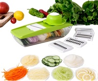Lecook Multifunction Manual Vegetable Cutter Mandoline Slicer With 5 Blades Potato Onion Slicer Kitchen Accessories Cooking