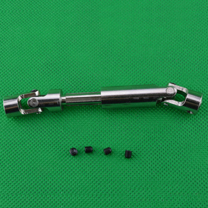 Image 1 - WLtoys arbre de Transmission arrière en métal, axe réglable pour voitures RC hors route, pièces de mise à niveau, 1 pièce, arbre de Transmission arrière en métal pour 12428 et 12423