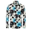 Men Brand Floral Shirts Plus Size M-3XL 2016 Spring New Arrival Designer Cotton Men Long Sleeve Casual Shirts Vetement Homme