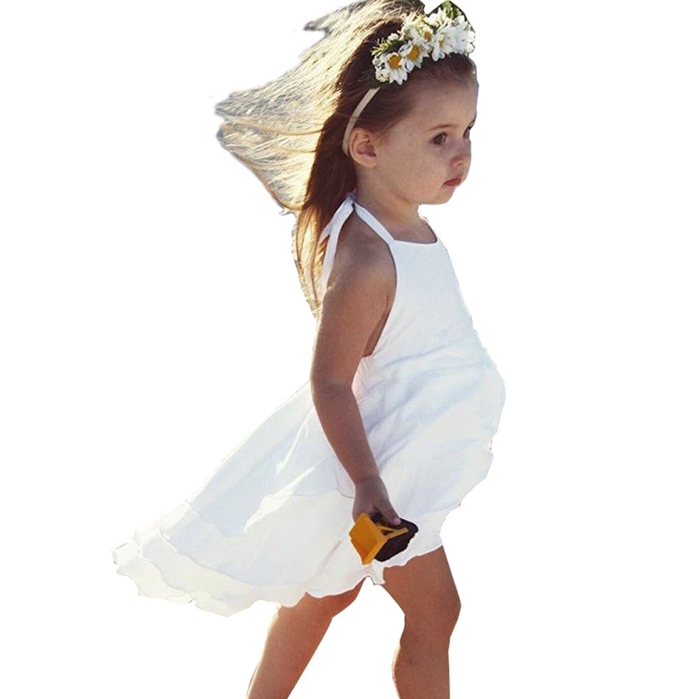 2 Colors Hot Cute Newborn Infant Baby Girl Solid Sleeveless Fold Dress Outfits Clothes High Quality Dropshipping AG30 15