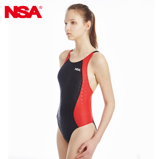 c1b56035f1f NSA Competitive swimming kids swimwear women competition swimsuits training  swimsuit swim suit women girls racing plus size