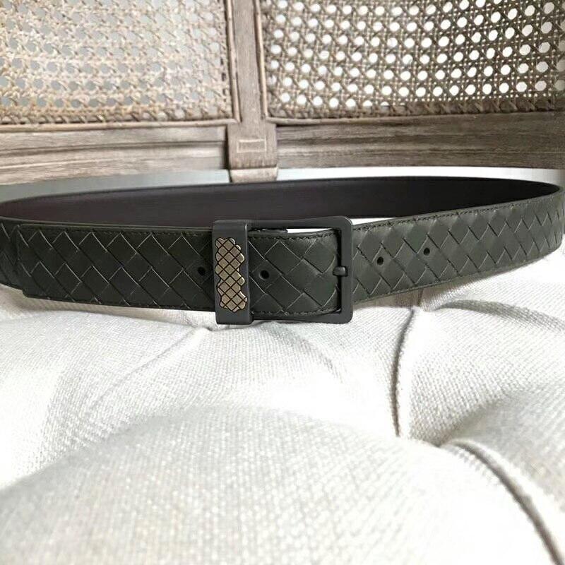 2019 New Pattern Genuine Leather Belt Hand Knit Male And Female Same Style Sheepskin Fashion