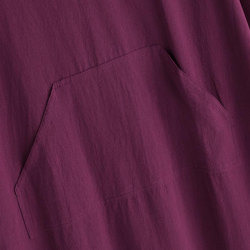 Women Vintage Maxi Long Dress 19 Celmia Summer Autumn Sexy V Neck Long Sleeve Split Casual Loose Linen Vestidos Kaftan S-5XL 19