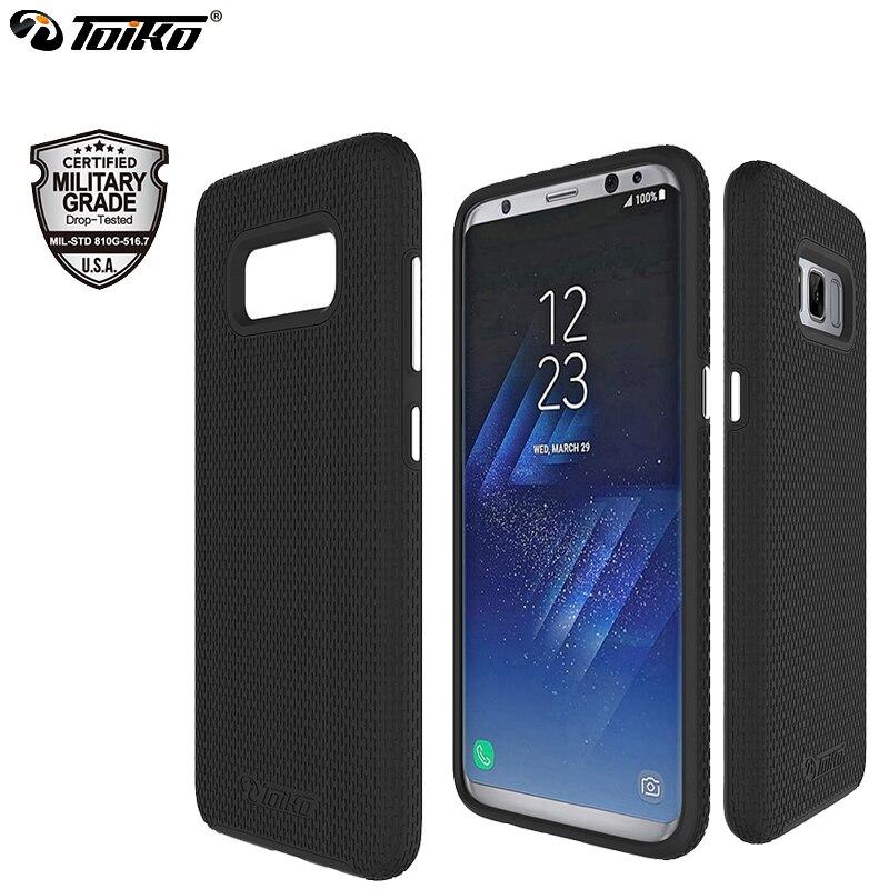 Toiko x guarda casos de telefone para samsung galaxy s8 capa absorção de choque 2 em 1 pc tpu escudo proteção dupla híbrido armadura robusta