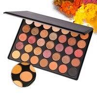 35 Цвет Shimmer Матовая Голый Палитры теней Профессиональный Макияж Палитра Теней Для Век Красота макияж Набор