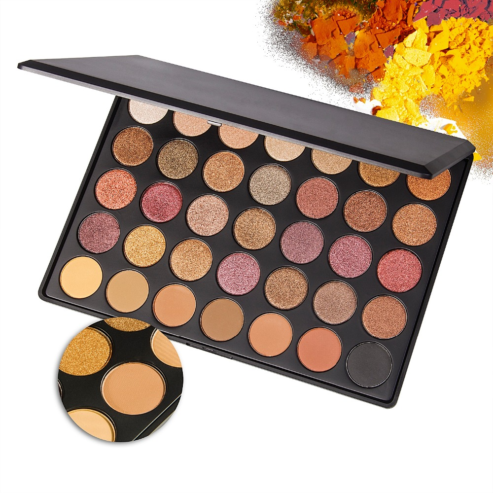 35 Color Shimmer Matte Naked Eye shadow Palette Professional Makeup Eyeshadow Pallete Beauty Make up Set naked palette eyeshadow makeup waterproof 12 color glitter shimmer make up colors naked pigments professional eyeshadow palette