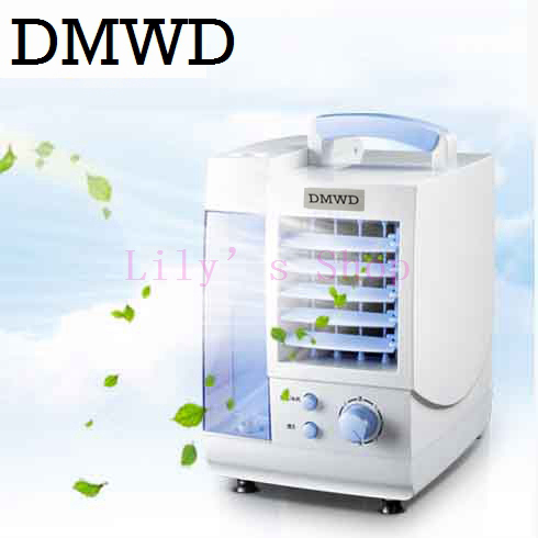 DMWD High quality Portable Strong Wind Air Conditioning mini Cooler electric Conditioner Fan cooling fans EU US plug for Summer dmwd mini desktop conditioner fan portable small household ultra quiet bladeless fans office conditioning cooler dormitory eu us