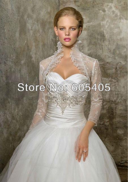5fe0d49b487e White/Ivory Lace Appliques Wedding bridal Jacket/Shawl/Bolero/Shrug /Wrap