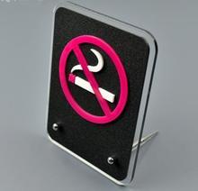 10pcs freeshipping 15x11.5cm  Acylic No smoking signs
