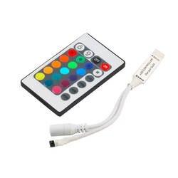 Инфракрасный Мини 24 ключ ИК пульт дистанционного управления беспроводной для 5050 3528 RGB светодиодные ленты коридоры лестницы дома б