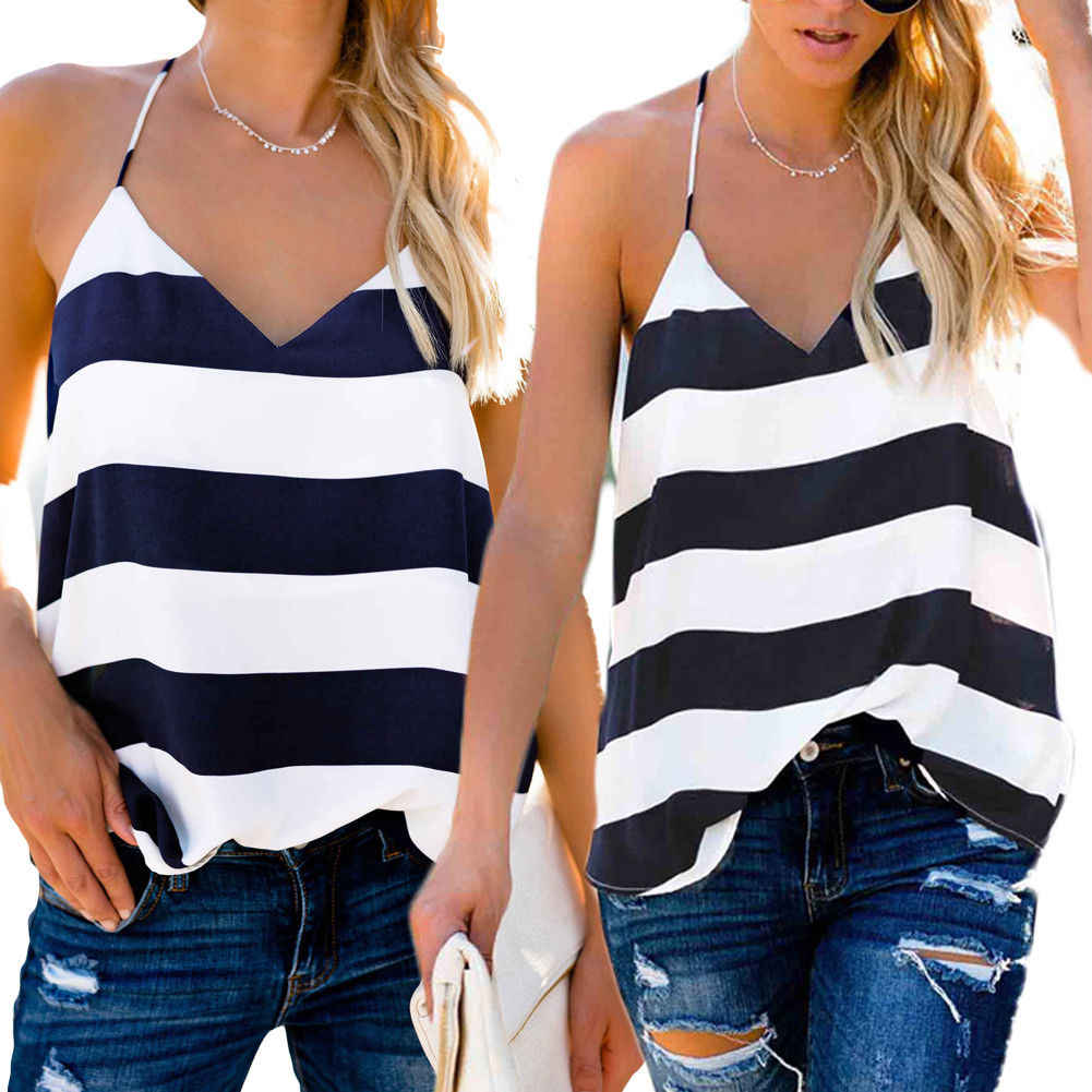 Mode Vrouwen Casual Vest Top Mouwloze V-hals Strand Tee Shirt Blouse Losse Tank Tops T-Shirt Tee