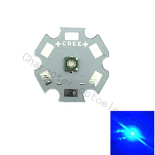 10 pcs/lot Cree XPE XP-E R3 1-3W LED Emitter Diode Blue 460-470nm with 20/16/14/12/10/8mm heatsink