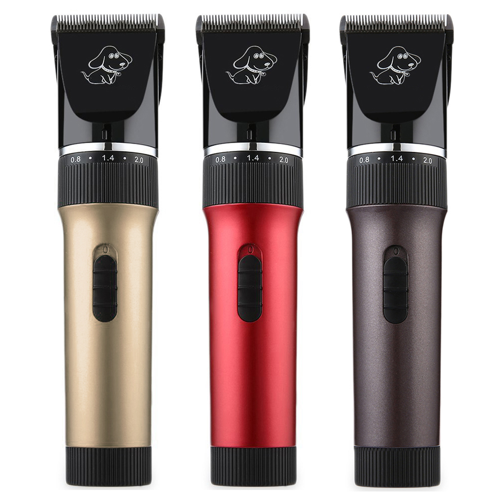 P6 Professional Electric Dog Trimmer Red Coffee Gold Pet Dog Cat Clipper Hair Grooming Set US