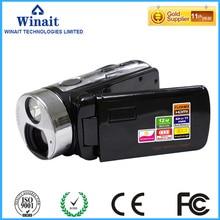 Dual solar charging 16X digital zoom video camera HDV-T99 12mp full hd 1080p HDMI output video camcorder