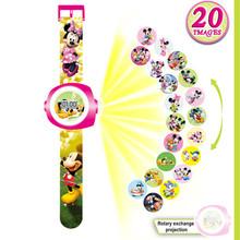 3D Projection Mickey Mouse Kids Watches Doraemon Watch Children Toy Anna Elsa Princess Boy Girl Kid Clock Spiderman Child Watch